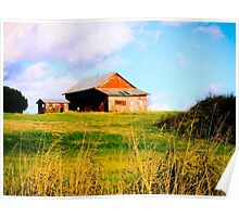 BARN ON A HILL Poster