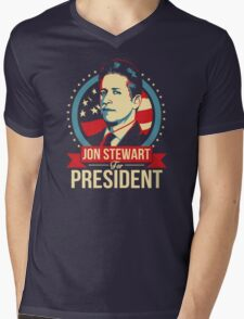 Jon Stewart for President  Mens V-Neck T-Shirt