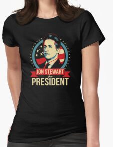 Jon Stewart for President  Womens Fitted T-Shirt