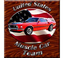 Ford Mustang Mach 1 Muscle Car Team Photographic Print