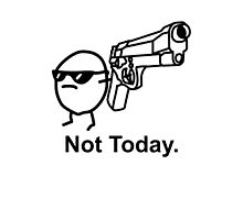 The Not Today Asdfmovie Phone Case Tribute (iPhone fit) by xzbobzx
