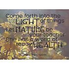 Let Nature Be Your Teacher by RoamngNaturalst