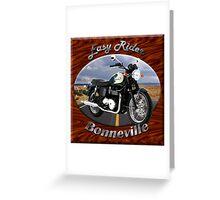 Triumph Bonneville Easy Rider Greeting Card