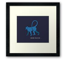 Loading evolution... Framed Print