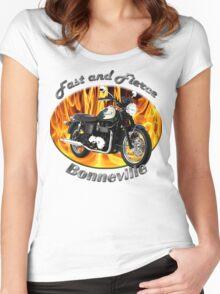 Triumph Bonneville Fast and Fierce Women's Fitted Scoop T-Shirt