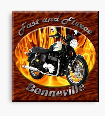 Triumph Bonneville Fast and Fierce Canvas Print