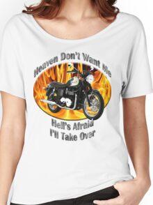 Triumph Bonneville Heaven Don't Want Me Women's Relaxed Fit T-Shirt
