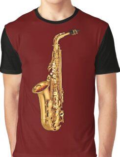 Golden Saxophone Graphic T-Shirt