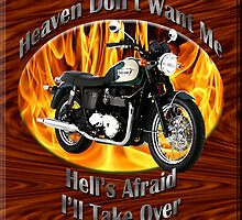 Triumph Bonneville Heaven Don't Want Me by hotcarshirts