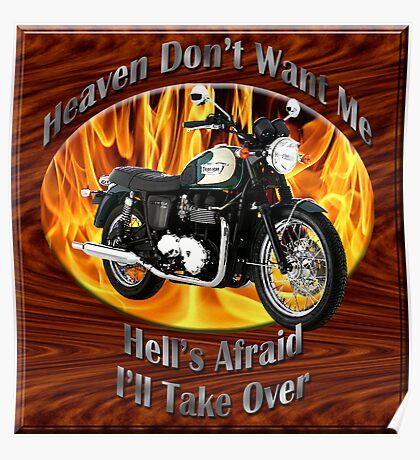 Triumph Bonneville Heaven Don't Want Me Poster