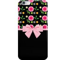 Sweet Pink Bow and Flowers iPhone Case/Skin