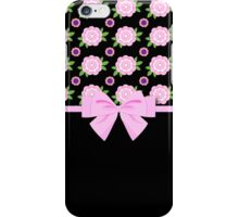 Pink and Purple Flowers iPhone Case/Skin