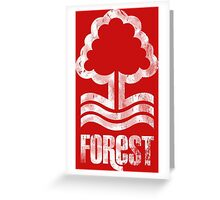 Nottingham Forest Distressed Logo Greeting Card