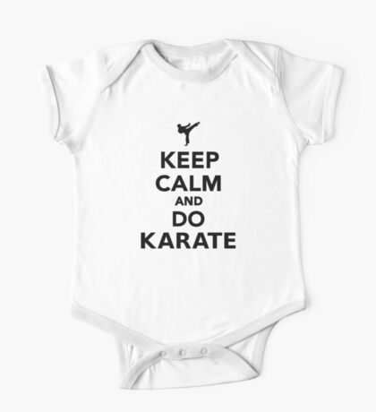 Keep calm and do Karate One Piece - Short Sleeve