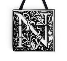 William Morris Renaissance Style Cloister Alphabet Letter N Tote Bag