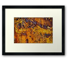 Rusted metal surface Framed Print