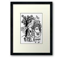 To Kill a Mockingbird (black and white) Framed Print