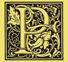 William Morris Renaissance Style Cloister Alphabet Letter P Kids Clothes