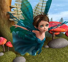 Flying Little Fairy Butterfly by Vac1