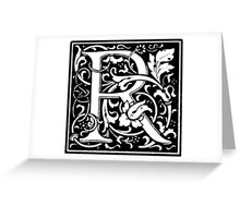 William Morris Renaissance Style Cloister Alphabet Letter R Greeting Card