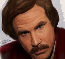 Ron Burgundy-The Anchorman by Philip Thompson