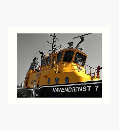 Amsterdam tugboat  Art Print