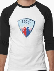 Sochi winter games logo Men's Baseball ¾ T-Shirt