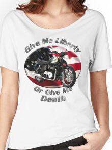 Triumph Bonneville Give Me Liberty Women's Relaxed Fit T-Shirt