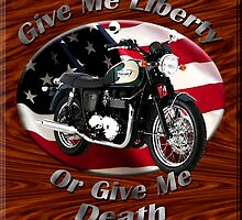Triumph Bonneville Give Me Liberty by hotcarshirts