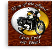 Triumph Bonneville King Of The Road Canvas Print