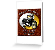 Triumph Bonneville King Of The Road Greeting Card