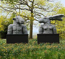 Sophie Ryder's Minotaur & Lady Hare Torso's by SophieRyder