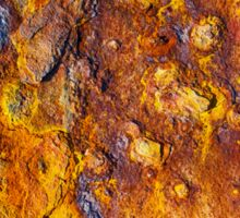 Rusted metal surface Sticker
