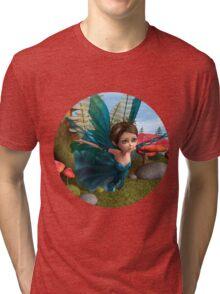 Flying Little Fairy Butterfly Tri-blend T-Shirt