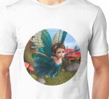 Flying Little Fairy Butterfly Unisex T-Shirt