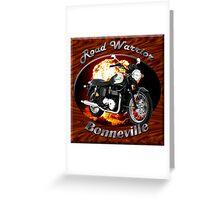 Triumph Bonneville Road Warrior Greeting Card