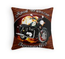Triumph Bonneville Road Warrior Throw Pillow