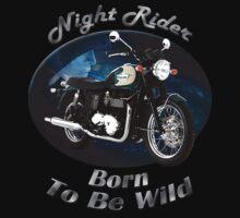 Triumph Bonneville Night Rider Kids Tee