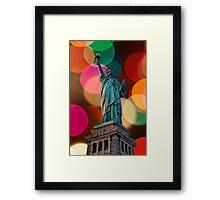 Liberty Bokeh Framed Print