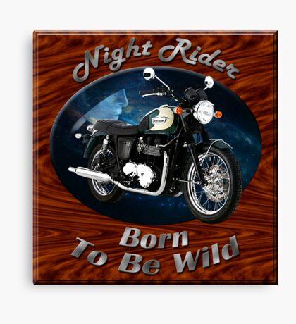 Triumph Bonneville Night Rider Canvas Print