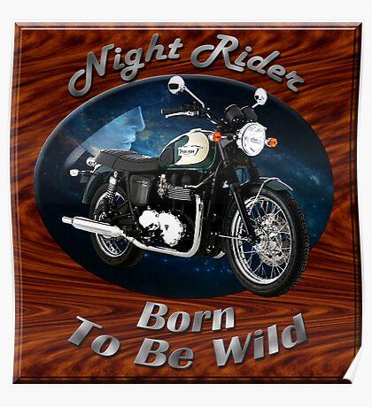 Triumph Bonneville Night Rider Poster