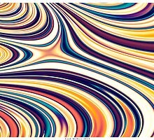 Color and Form Abstract - Curved Rounded Lines Flowing . by Leah McNeir