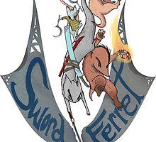 Swordferret Banner by trevorkanzler