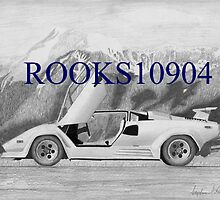 Lamborghini Countach 5000S EXOTIC CAR ART PRINT by rooks10904