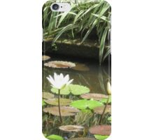 Balinese Lotus Pond green and tranquil iPhone Case/Skin