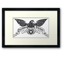 Bioshock Infinite - Columbia Freight (Dark Gray) Framed Print