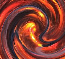 Fire and Water Abstract by AnnieS123