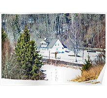 Norwegian winter hide-away Poster