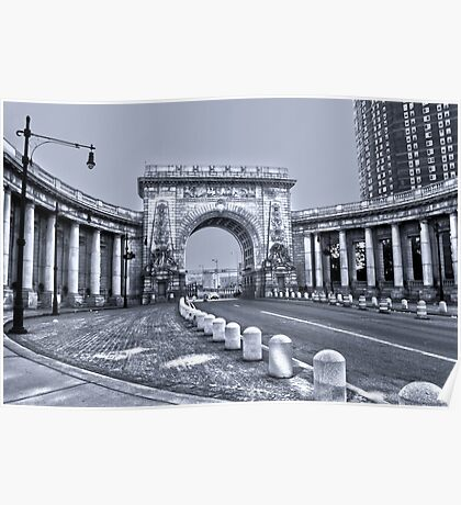 The Arch and Colonnade of the Manhattan Bridge Poster