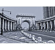 The Arch and Colonnade of the Manhattan Bridge Photographic Print